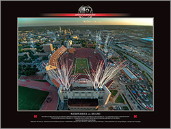 PRANGE Photography and Video: 20th Anniversary - Orange Bowl Nebraska vs Miami Poster - click for more information, and to order