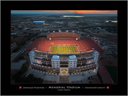 PRANGE Photography and Video: Memorial Stadium Unrivaled Tradition / Unmatched Loyalty Poster - click for more information, and to order