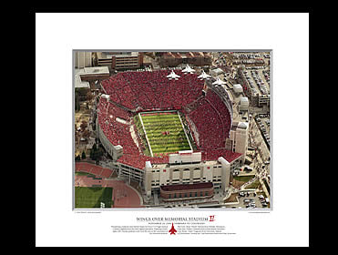 Prange Aerial Photography: Print Wings Over Memorial Stadium II