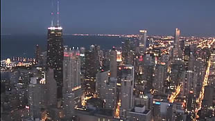 Sample 5: Chicago Skyline Aerial video from a helicopter - click to view